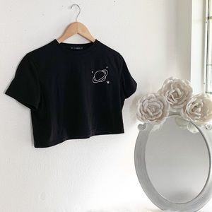 Black Zaful Crop Top